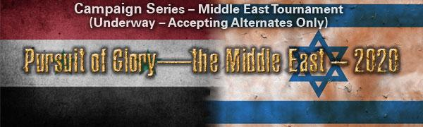 Pursuit of Glory—the Middle East – 2020 Tournament